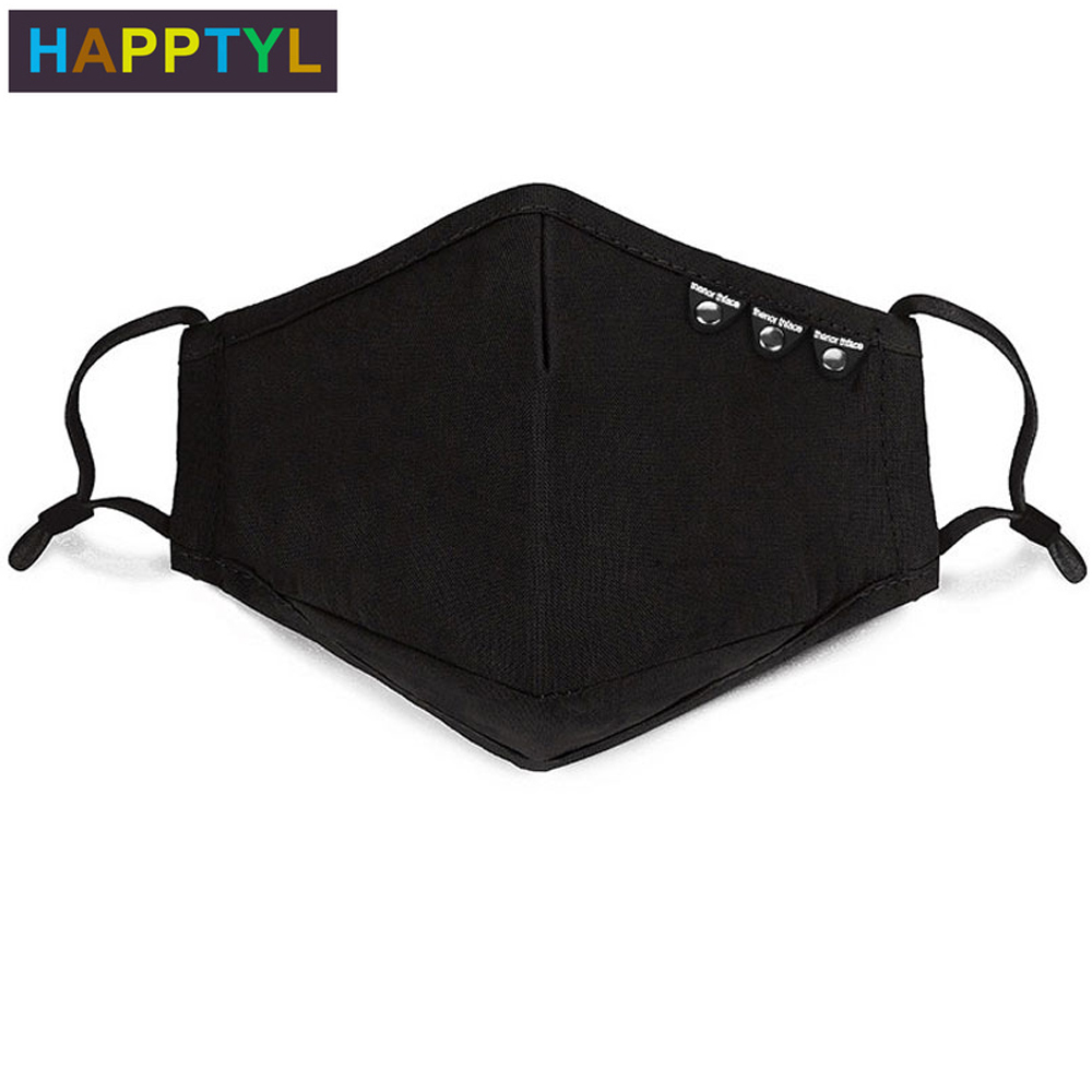 HAPPTYL 1Pcs Fashion Anti Dust Face Mouth Cover Mask Respirator - Dustproof Anti-bacterial Washable - Reusable Comfy Masks