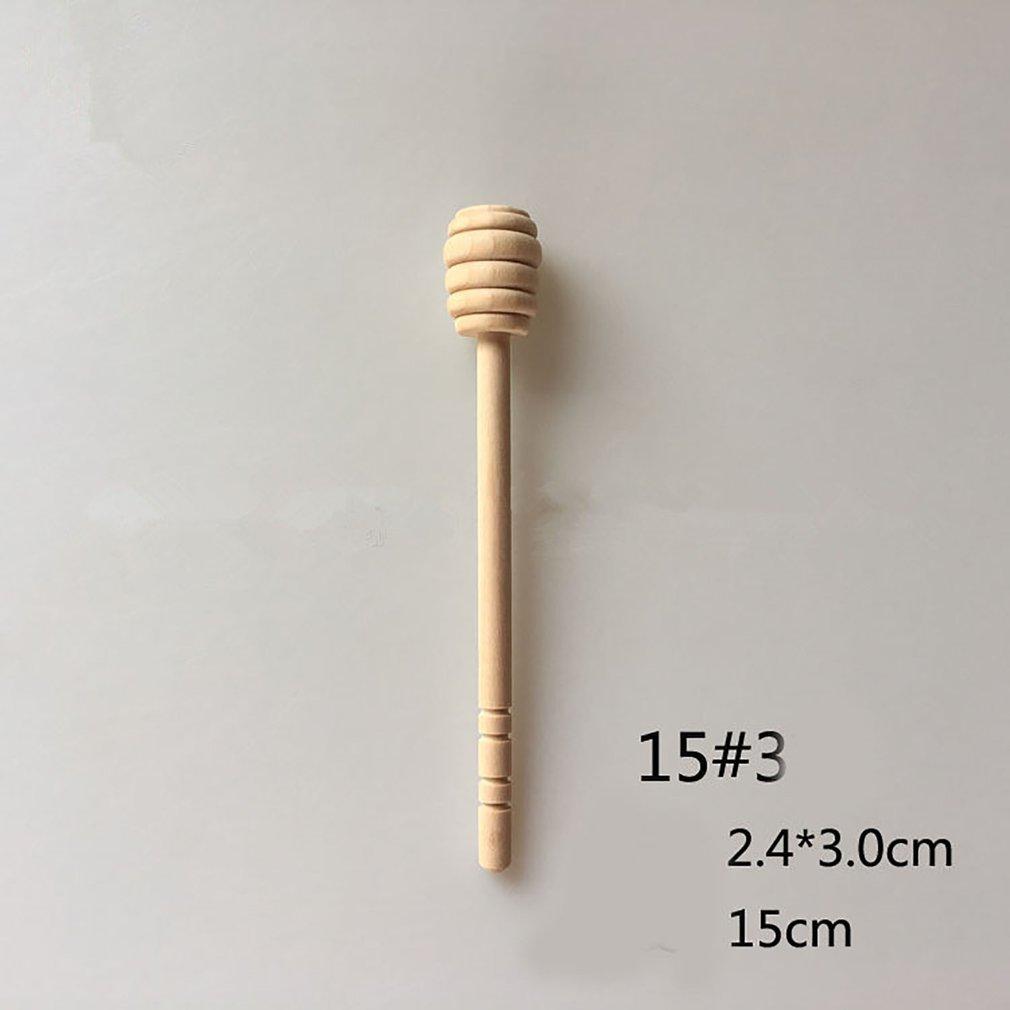 High Quality Mini Wooden Honey Stick Wood Stick Honey Stir Bar Mixing Handle Jar Spoon Honey Spoon Stick Honey Stirring Rod