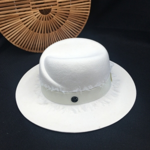 Image 4 - summer fashion m fedoras white female hat high quality lace sun shading sunscreen wool Panama