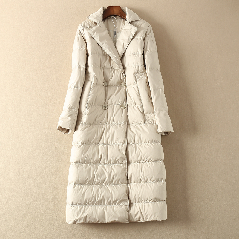 Long Winter Coat Women Down Coat Korean White Duck Down Jacket Women Hooded Puffer Jacket Warm Parka Casaco YY1519