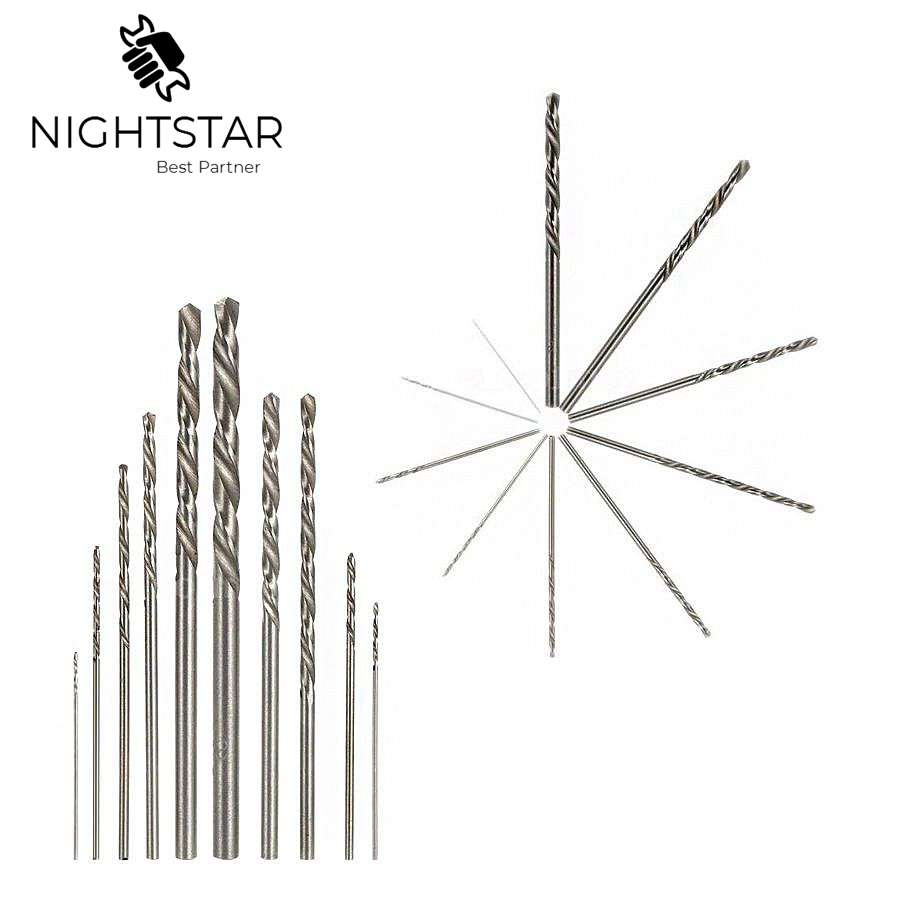 10pcs HSS White Steel Twist Drill Bit Set 0.5 0.6 0.8 1.0 1.2 1.5 1.8 2.0 2.5 3.0mm For Electric Grinding Drilling