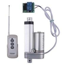 Atuador linear elétrico de controle remoto rf, engrenagem de metal de 12v pode parar de qualquer momento, curso linear do motor 50mm 100mm 150mm 200mm 250