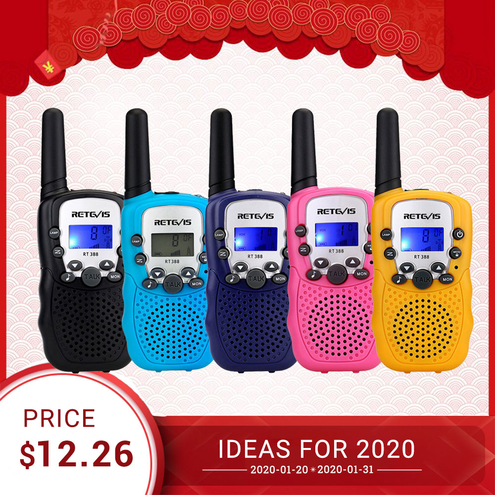 Mini Walkie Talkie Kids 2pcs Radio Station Retevis RT388 0.5W PMR PMR446 FRS UHF Two-way Radio VOX Flashlight Communicator Gift