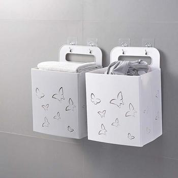 折りたたみ汚れ洗濯服バスケットウォールマウント浴室家庭用電源ポータブル雑貨オーガナイザーおもちゃのコンテナ