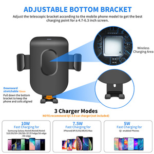Image 4 - FDGAO Support De Voiture Chargeur Sans Fil Qi Pour iPhone 11 Pro XS Max X XR 8 chargeur de Charge Rapide Sans Fil De Téléphone De Voiture support pour samsung S9 S10