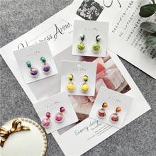 Korean Little Cute Fresh Fruits Slices Simple Woman Girls Stud Earrings Fashion Jewelry Holiday-JQD5-W2