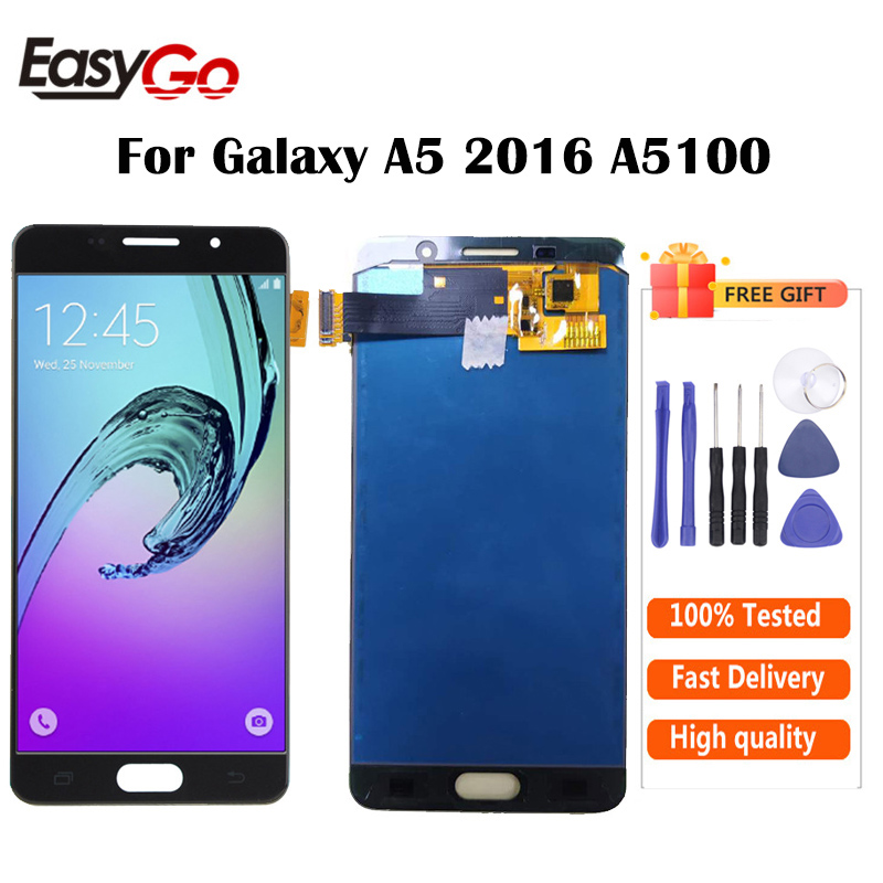 """5.2"""" For Samsung Galaxy A5 2016 A5100 A510 A510F A510M SM-A510F LCD Display With Touch Screen Digitizer Assembly Free Shipping(China)"""