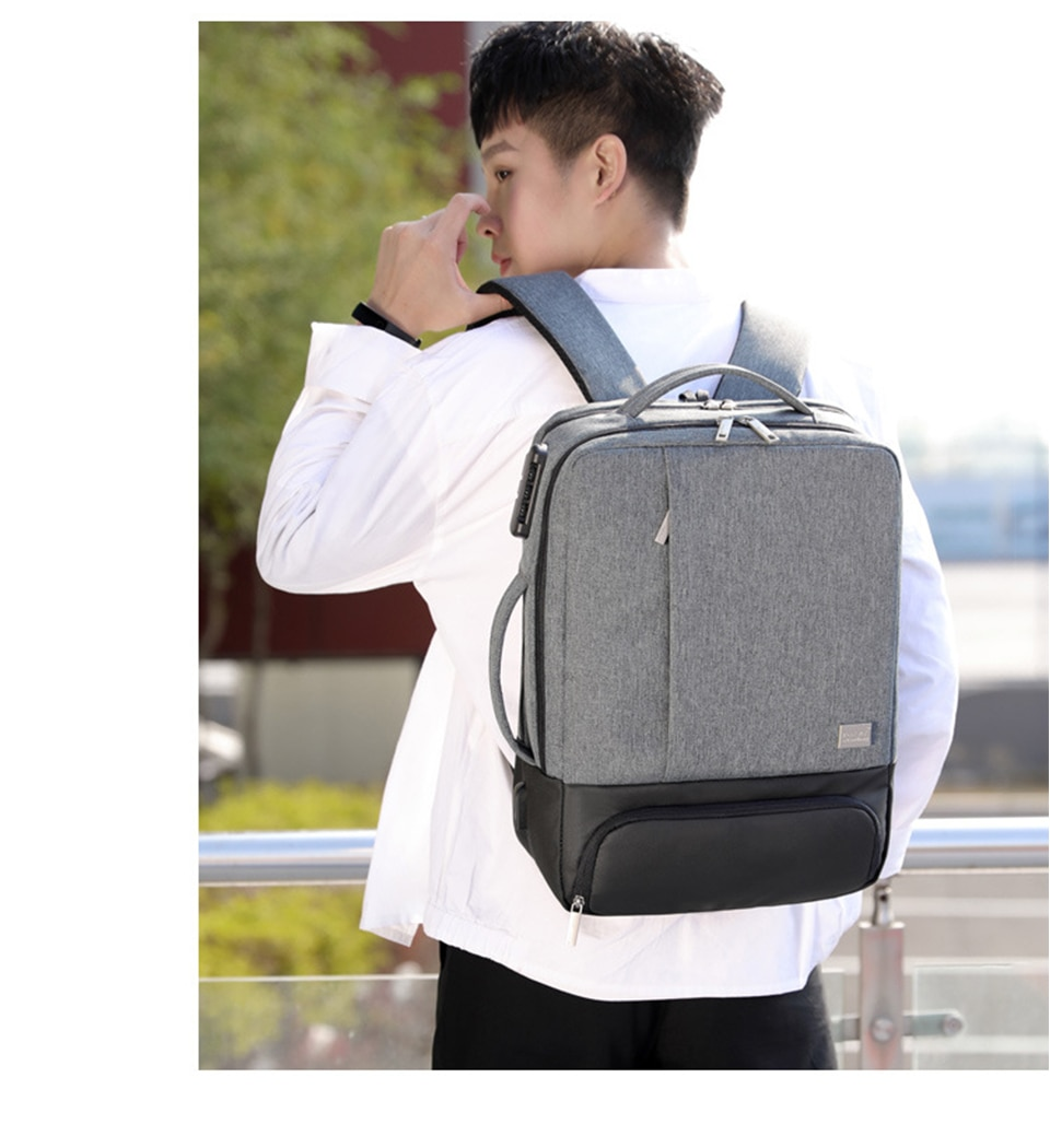 Mens Backpack Laptop Backpacks 17 Inch 15.6'' Anti Theft Male Business Bags Notebook Trip Back Pack Office Women Travel Bagpack (24)