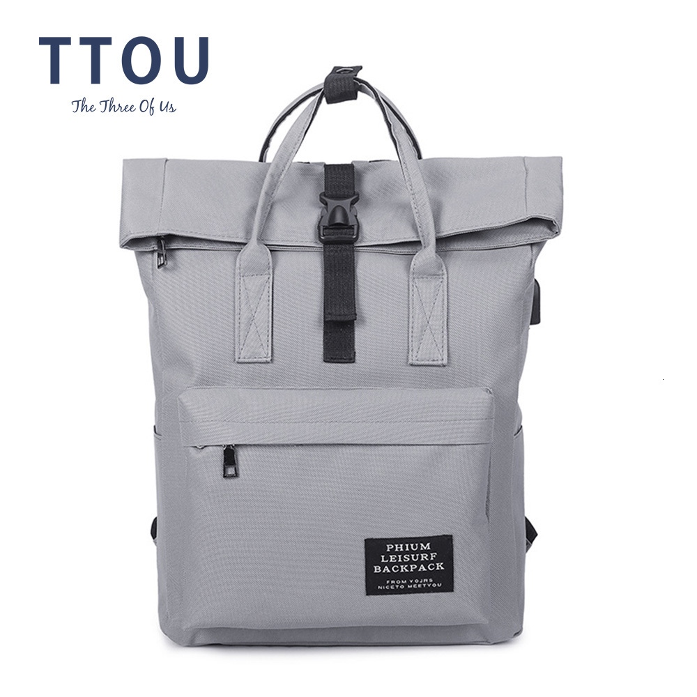 TTOU Fashion Backpack Women Leisure Back Pack Korean Ladies Knapsack Casual Travel Bags School Girls Classic Bagpack Laptop bag image