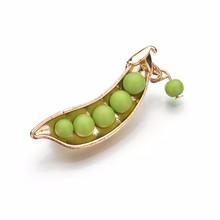 Japanese Style Green Pea brooch Gold Color Statement Accessory Sweater Collar Brooch Pin Sweater Suit Brooch 2019 Fashion BKb72 нож филейный язь сталь дамаск