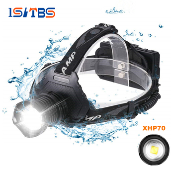 LED Headlamp Super Bright Headlight XHP70 Outdoors Waterproof Zoomable USB Rechargeable 18650 Battery Fishing Camping Light 1