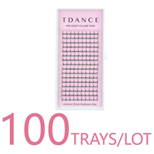 TDANCE 100 TRAYS/LOT 16 Lines 짧은 줄기 Premade Lashes 러시아어 볼륨 속눈썹 확장 Faux Mink Lash Extension