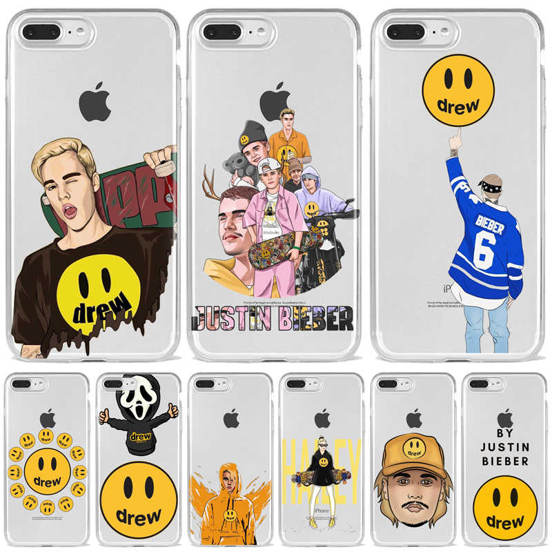 Justin Bieber drew house Soft silicon cover case for iphone 5 5s 6 6s 7 7plus q50