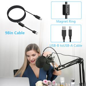 Image 4 - Maono AU A04 kit de microfone usb profissional, condensador de podcast, microfone com chapéu para pc, karaokê, youtube, gravação