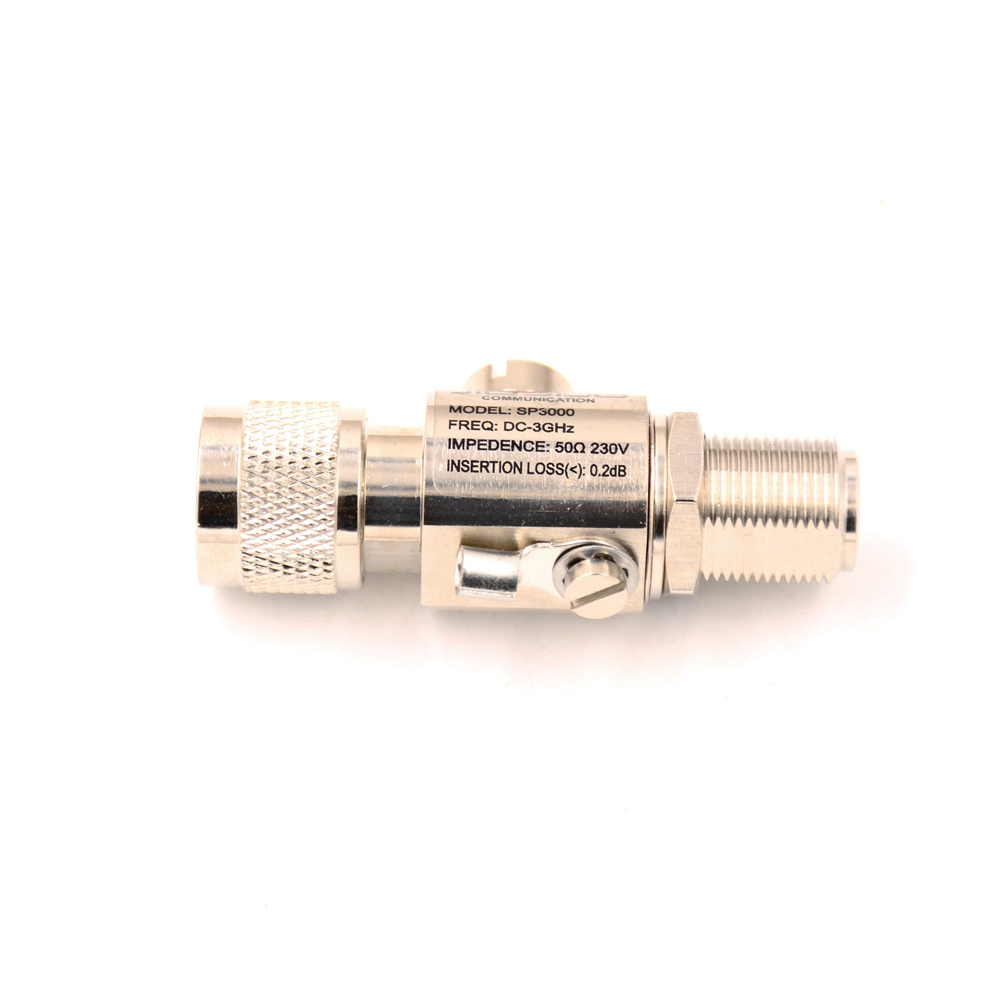 JIASIDA SP3000 Lighting Arrester /Coaxial Protector Connector N Male- Female Antenna & Mobile Radio Protector