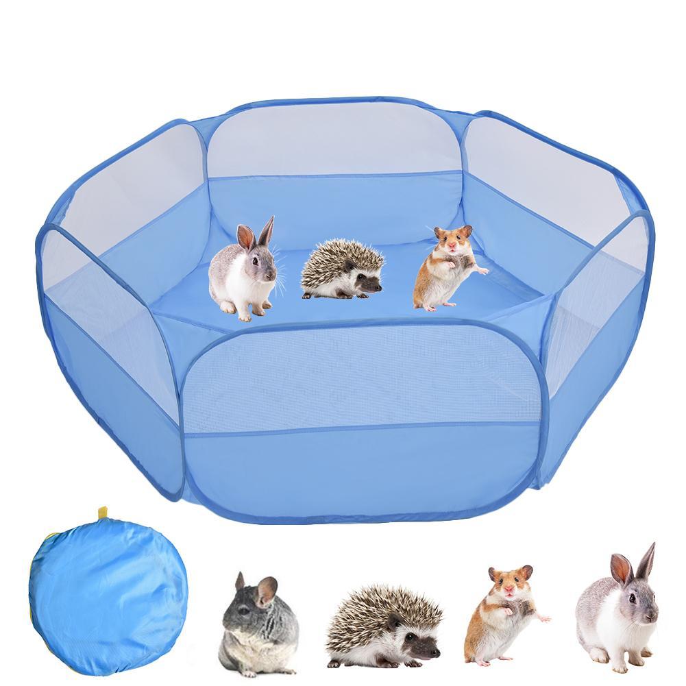Gato plegable de Color puro, valla para hámster, para interiores y exteriores, juego de guardia, juego invisible, Rubbits, jaula de animales pequeños, juego de juegos