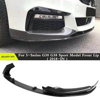 P-er estilo fibra de carbono frente lábio spoiler splitter apto para bmw g30 5-series