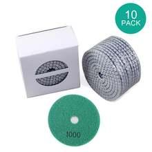 10 шт 4 дюйма Алмазный Полировочный диск колодки комплект 100