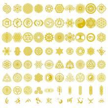 20 pçs sagrado geométrico cobre ornonite adesivo flor vida árvore diy energia torre pirâmide material resina cola epoxy arte artesanato