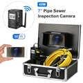 7 Cal bezprzewodowy WiFi 20/30/40M kamera inspekcyjna do rur kanalizacji spustowy rurociągu przemysłowy endoskop z miernik znakowania
