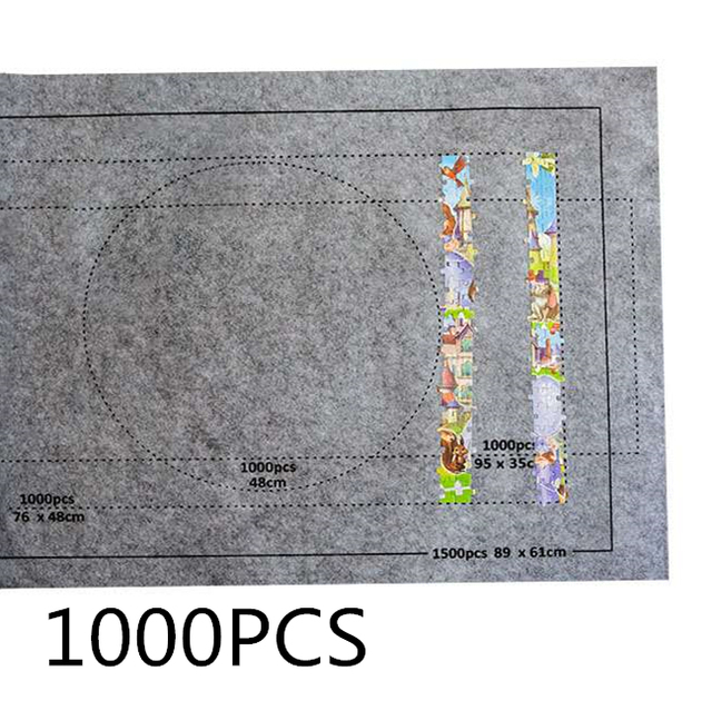 26*46Inch Large Puzzles Mat Jigsaw Roll Felt Mat Play Mat Large Puzzle Accessories Portable Travel Crawling Mat Baby Toys
