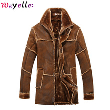New Arrivals Mens Faux Fur Overcoat Luxury Winter Warm Jackets and Coats Outerwear 2019 Vintage Russian Long