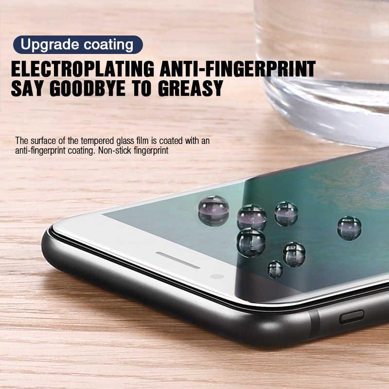99D Bordo Curvo Copertura Completa di Protezione di Vetro Per Per iPhone 7 8 6 6S Plus Temperato Protezione Dello Schermo iPhone X XR XS Max di Vetro