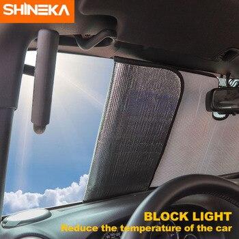 Gafas de sol SHIENKA para Jeep Wrangler JK 2007-2017 parabrisas delantero para coche parasol protector solar Anti rayos UV para jeep Wrangler JK