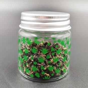 цена на 420 Glass Storage Bottle Jar Glass Sealed Small Jar with Lid 1pcs