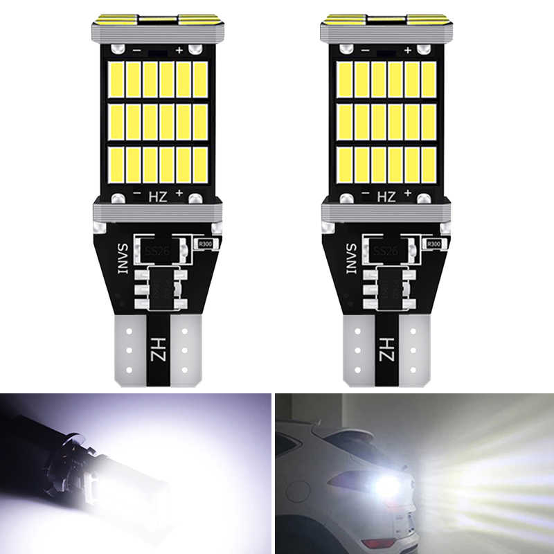 2x T15 W16W Led-lampen 4014SMD Canbus Error Gratis Led Back Light 921 912 W16W Led Lampen Auto Reverse Lamp xenon Wit Rood Orange
