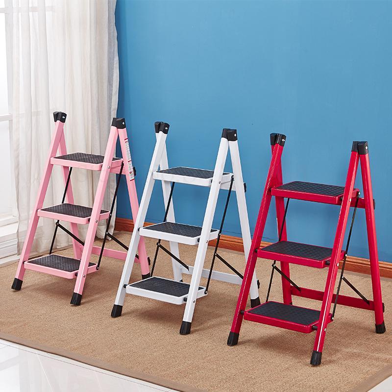 Домашний Складной стул лестница, многофункциональный эскалатор, утолщенная железная трубка, педаль, домашняя лестница в елочку, три|Стремянки и приставные лестницы|   | АлиЭкспресс