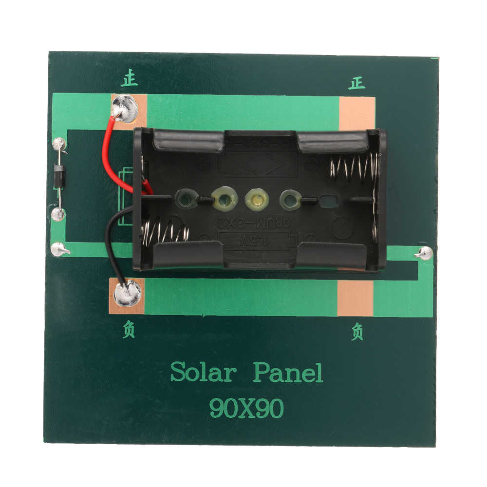 الذكية الشمسية بطارية Carger 1 W/4 V شاحن بالطاقة الشمسية ل 1.2V AA بطارية قابلة للشحن الكريستالات الايبوكسي لوحة طاقة شمسية المحمولة