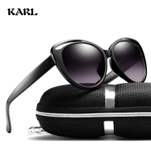 Women Sunglasses Cat Eye Round Frame Sun Glasses KARL Womens Brand Designer Driving