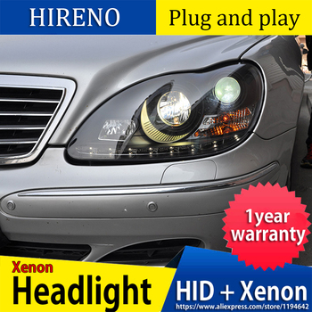 Car Styling LED Head Lamp For Mercedes-Benz GLK W208 C63 C200 C230 C280 C300 1997-2003 Year LED Head Light with Angel Eyes
