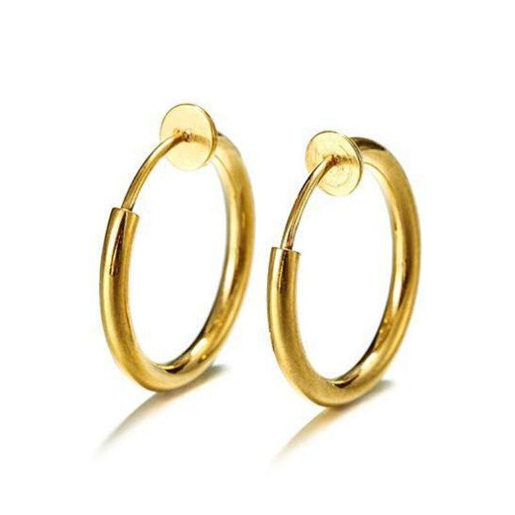 Clip On Round Hoop Earrings Size 2cm 5cm non pierced clip-on Hoop Jewellery