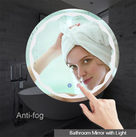 Makeup Mirror Led Wall Mirror with Light Mirror Light Makeup Bathroom Mirror Lamp Round Home Decoration Vanity Lights Bedroom