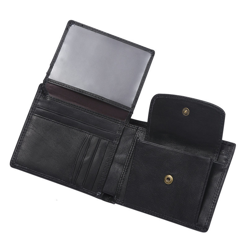 H5858f2cd6f1845ac8b17a7e19c2d0f17d - GENODERN Cow Leather Men Wallets with Coin Pocket Vintage Male Purse Function Brown Genuine Leather Men Wallet with Card Holders