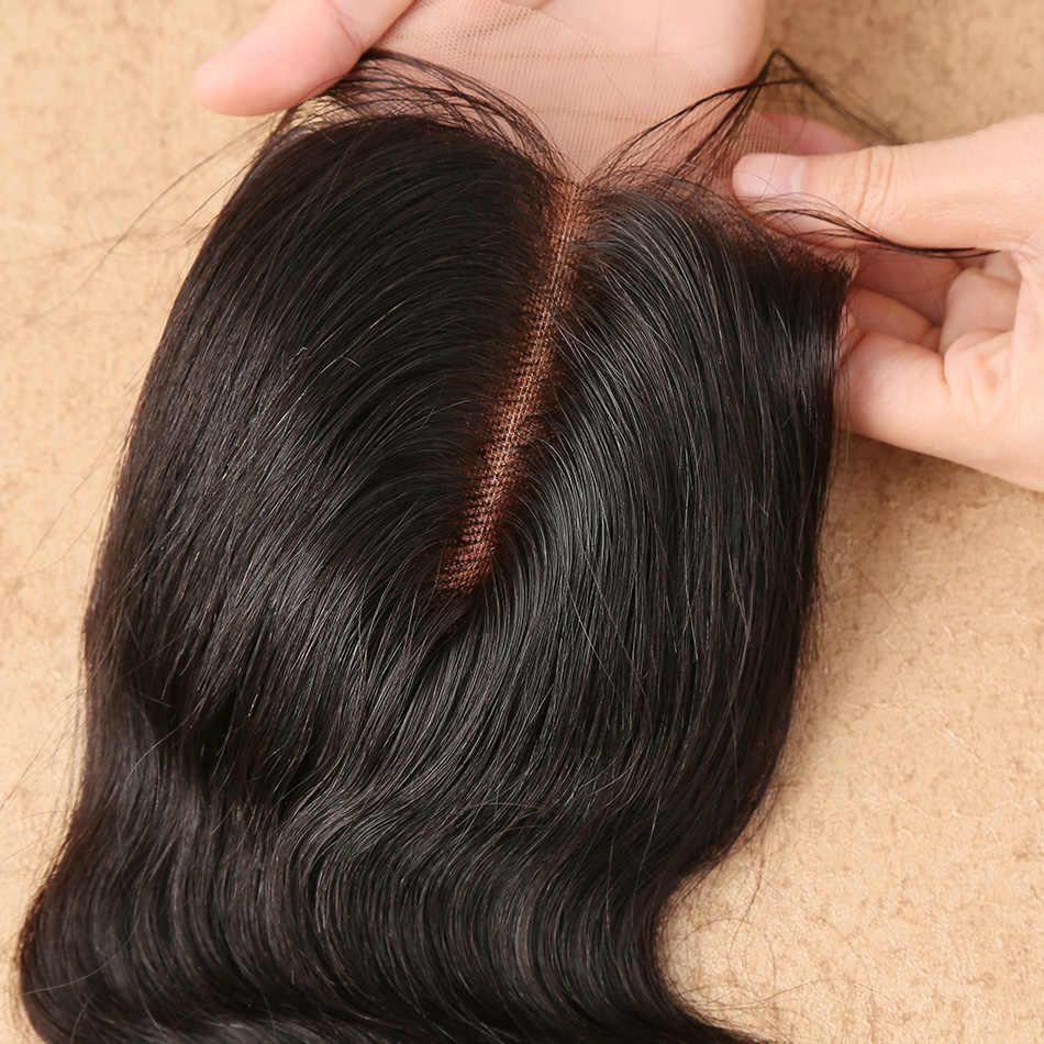 Wigirl włosów brazylijski ciało fala zamknięcie koronki pasma włosów typu remy 4*4 Siwss koronki z dzieckiem włosy 130% gęstości darmowa wysyłka