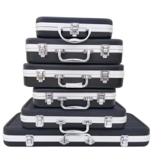 Портативный пластиковый ящик для инструментов из алюминиевого сплава чемодан ударопрочный Безопасный инструмент ящик для хранения с губчатым подкладом