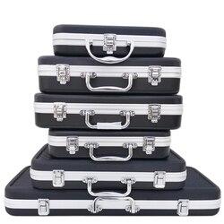 Портативный пластиковый ящик для инструментов из алюминиевого сплава чемодан ударопрочный Безопасный инструмент ящик для хранения с губч...