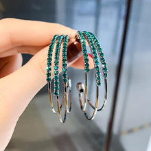 the United States and drill a few circles earrings Korean tall match C-shaped ear rings pendant decoration girl