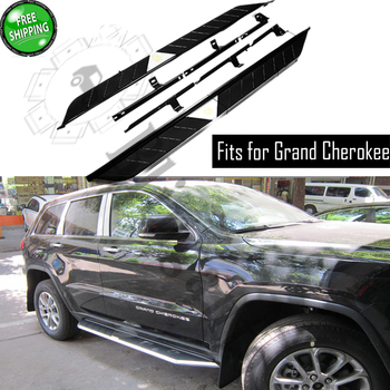 Fits for Jeep Grand Cherokee 2011-2020 2Pcs left right running board side steps nerf bar car pedal side stairs