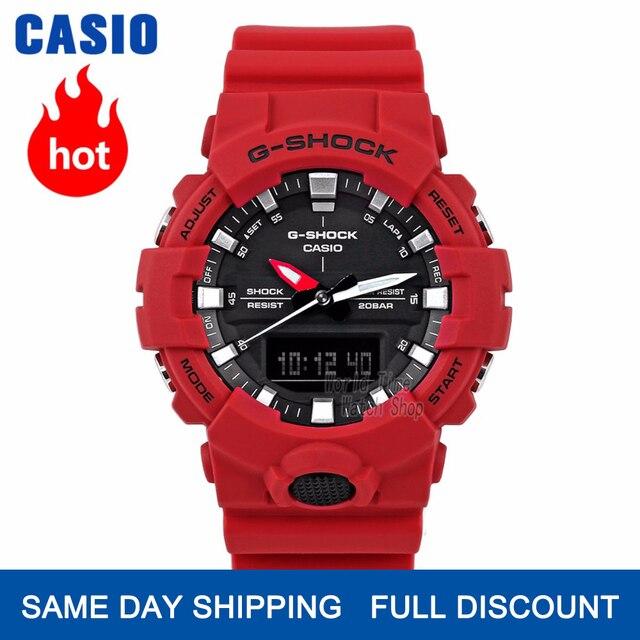 Casio שעון גברים גי שוק בראש מותג יוקרה להגדיר 200 מ Waterproof ספורט קוורץ שעון LED כפול אור Relogio G הלם צבאי גברים שעון דיגיטלי קומפקטי במקרה העיצוב הדק שעון היד שעוני צלילה relogio masculino reloj hombre erkek