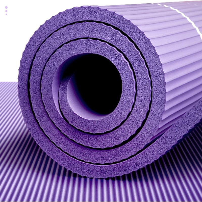 10mm Yoga Mat for Beginner with Position Line Non-slip Gym Yoga Mat Thicken Widen Men Women Yoga Exercise Dance Fitness Mat 5