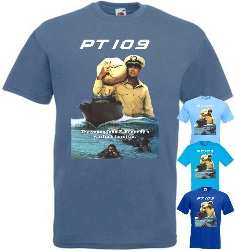PT 109 v6 T shirt light blue azure movie poster J.F. Kennedy all ...