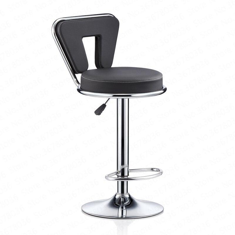 New Lifting Bar Chair Best PU Beauty Nail Chair Metal Bar Stools Bar Stool Chair Formal Dinning Chairs F Fauteuil Long De