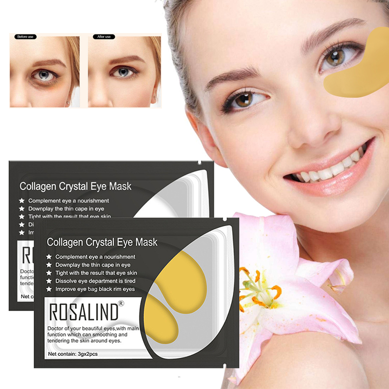 2Pcs/Pack Eyes Dark Circles Removal Anti Aging Bag Collagen Eye Patch Ageless Anti Wrinkle Eyes Moisture Serum Care Masks TSLM2
