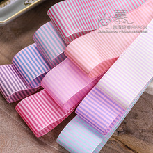 100yards 7 10 16 25 38mm double colors horizontal stripes ribbon for bouquet flower packing bow hair headband craft supplies