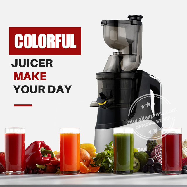 MIUI Slow juicer 7Lv Cold press extractor FilterFree patente Easy Clean 43rpm Large Diamete Quiete BPA Free 2020 Multi-color PRO Appliances Consumer Electronics