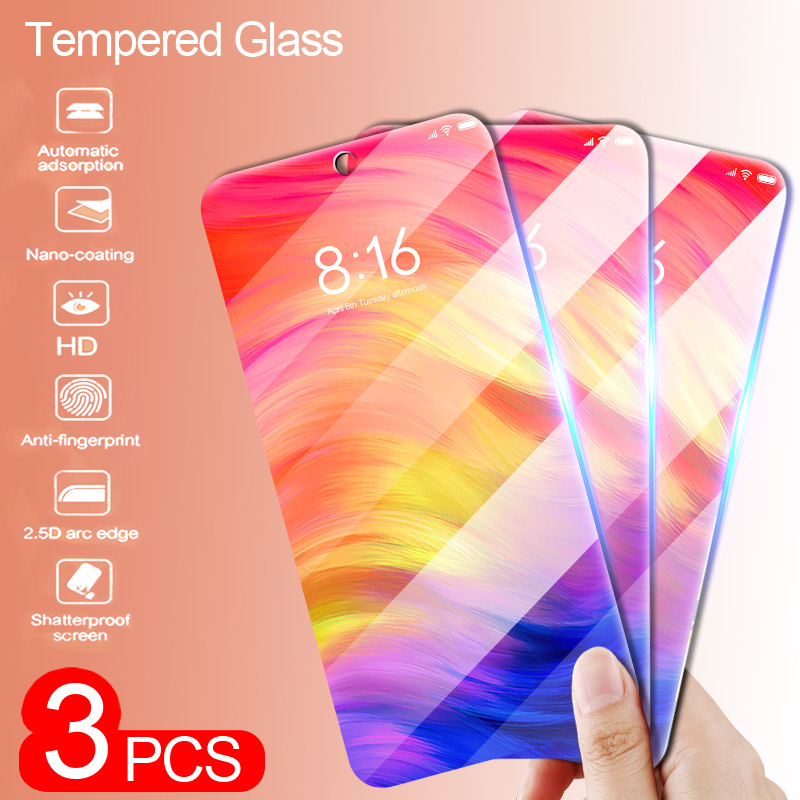 3-1Pcs Protective Glass on The for <font><b>Xiaomi</b></font> <font><b>Redmi</b></font> Note 8 7 5 Pro Screen Protector for <font><b>Redmi</b></font> 7 7A <font><b>6</b></font> 5 <font><b>Redmi</b></font> K20 Pro Glass Film image